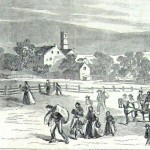 Residents of Sharpsburg fleeing the town as Confederates approach and prepare for battle in September 1862 (Harper's Weekly, October 11, 1862; NPS History Collection)