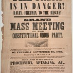 A broadside advertising a meeting of the Constitutional Union Party in Frederick in September 1860 (Perkins Library, Duke University)