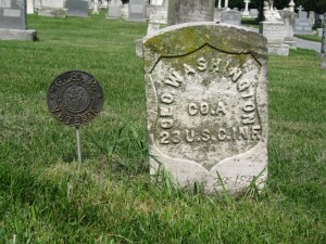The grave of George Washington, a USCT veteran  (Dean Herrin)