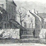 Martinsburg became a barricaded town to defend against marauder attacks (Harpers Weekly, Dec. 3, 1864; NPS History Collection)