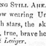 A notice about Union aprons from the Hagerstown Herald of Freedom & Torch Light, May 29, 1861