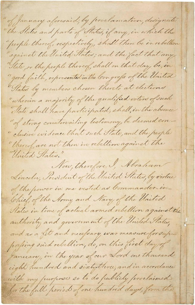emancipation papers