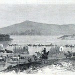 General Jubal Early's forces retreating across the Potomac River (Harper's Weekly, July 30, 1864; NPS History Collection)