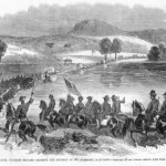 Union Colonel George H. Thomas' troops cross the Potomac at Williamsport on June 16, 1862 (Harper's Weekly, July 6, 1861; courtesy of Timothy R. Snyder)