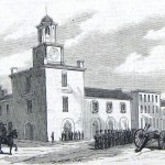 The town hall of Hagerstown, protected by the Dahlgren Howitzer Battery of Philadelphia (The New-York Illustrated News, October 11, 1862; courtesy of Princeton University Library)