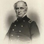 Colonel Edward D. Baker, in charge of the Union forces at Ball's Bluff. Baker was a U.S. Senator from Oregon and a close friend of President Abraham Lincoln (MOLLUS-MASS Collection, U.S. Army Military History Institute)