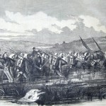 Part of Union General George Cadwalader's division crossing the Potomac at Williamsport on June 16, 1861 (New-York Illustrated News, July 6, 1861; courtesy of Princeton University Library)