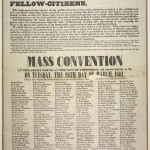 Broadside calling for a Mass Convention in Frederick County on March 26, 1861 to form an organization supporting the Union (Perkins Library, Duke University)