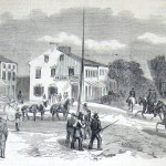 Militiamen from Pennsylvania leaving Hagerstown to engage the Confederates, who however, had already retreated back to Virginia. (The New-York Illustrated News, October 18, 1862; courtesy of Princeton University Library)