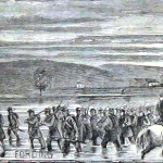 Union troops fording the Potomac River at Williamsport, MD (Harper's Weekly, July 27, 1861; NPS History Collection)
