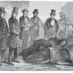 Governor Wise, of Virginia, and District-Attorney Ould examining the wounded prisoners in the presence of the officers and reporters (The Life, Trial and Execution of Captain John Brown [New York: Robert M. DeWitt, 1859], after p.44)