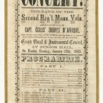 Program for military concert, January 13, 1862, Frederick, Maryland (Perkins Library, Duke University)