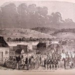 General Charles Stone's division of Union troops at Edward's Ferry, MD, October 20, 1861 <br />(Harper's Weekly, Nov. 9, 1861; Courtesy of Timothy R. Snyder)