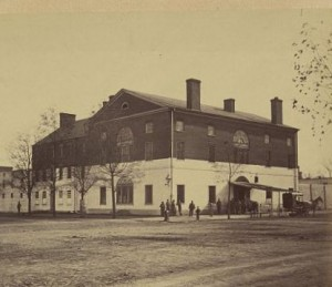 The Old Capitol Prison in Washington, DC, where Elizabeth White, Kate and Betsie Ball, and Annie Hempstone spent three weeks in 1864  (Library of Congress)