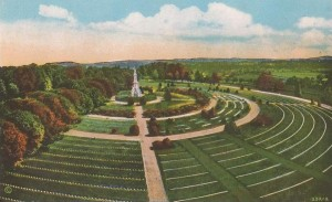 A postcard view of Soldiers' National Cemetery, Gettysburg  (NPS)