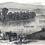 Part of the retreating Confederate force crossed the Potomac River a few miles north of Williamsport (C.E.H. Bonwill, artist; Frank Leslie's Illustrated Newspaper, August 1, 1863, courtesy of Princeton University Library)