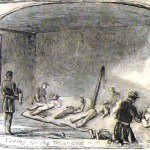 Caring for the wounded after the Battle of Falling Waters (Harper's Weekly, July 27, 1861; NPS History Collection)
