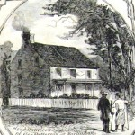 Headquarters of Union General Robert Patterson at Martinsburg, VA (later WV), after Union troops entered the town on July 3, 1861 (Harper's Weekly, July 27, 1861; NPS History Collection)