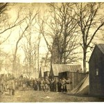 Williamsport camp of Company C of the 13th Massachusetts (Courtesy of Brad Forbush, http://www.13thmass.org/)