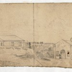 The left panel of Forbes sketch, showing Camp Hill (September 1862, Edwin Forbes, artist; Library of Congress)