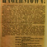 Broadside to the Citizens of Hagerstown, July 14, 1863 (Historical Society of Washington County)