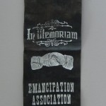 Ribbon of the Emancipation Association of Frederick, Maryland, c.late nineteenth century (Courtesy of L. Tilden Moore)