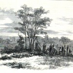 """""""Burying the Dead"""" is a sketch of the previous photograph (Harper's Weekly, October 18, 1862; NPS Historical Collection)"""
