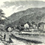 Headquarters of Union Colonel Charles Stone at Sandy Hook, MD, near Harpers Ferry (Harper's Weekly, August 10, 1861; NPS History Collection)