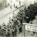 Confederate soldiers marching through Frederick in September 1862 (Historical Society of Frederick County)