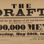Notice of military draft to take place in Chambersburg, March 1864 (Gettysburg National Military Park)