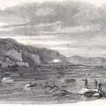 Loudon Heights in Virginia, overlooking Harpers Ferry in the distance (Harper's Weekly, September 7, 1861; NPS History Collection)