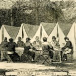 Dinner at Camp Meredith (Harper's Weekly, July 6, 1861; NPS History Collection)