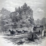 Union troops being towed along the Chesapeake and Ohio Canal to join General Banks' command in late 1861 (The New York Illustrated News, November 11, 1861; courtesy of Princeton University Library)