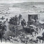 Chambersburg citizens leaving in advance of the Confederate forces (J. C. Aulet, artist; New York Illustrated Newspaper, July 11, 1863; courtesy of Princeton University Library)