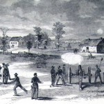 A skirmish between Early's and Sheridan's forces on August 21, 1864 at Summit Point, seven miles from Charlestown (Frank Leslie's Illustrated Newspaper, September 17, 1864; J.E. Taylor, artist; courtesy of Princeton University Library)