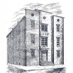 Westminster's Odd Fellows Hall, where members of the 150th New York Infantry were headquartered. During the skirmish of Corbit's Charge, soldiers rushed from the building and were almost immediately captured by Confederate troops. (Courtesy Historical Society of Carroll County)
