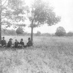 Veterans of the Battle of Ball's Bluff revisit the battlefield in 1876 (George E. Tabb, Jr. and Civil War Trust)