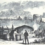 An oven constructed to bake bread for one of the regiments in General Banks' army (Frank Leslie's Illustrated Newspaper, September 14, 1861; NPS History Collection)