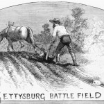 Years after the Battle of Gettysburg, farmers were still unearthing the remains of the dead (June 24, 1882, artist unknown; Library of Congress)
