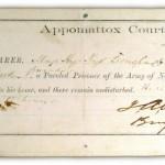 Parole of Henry Kyd Douglas, April 10, 1865, Appomattox Court House (Antietam National Battlefield)
