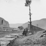 The remains of the U.S. armory at Harpers Ferry (October 1862, Silas A. Holmes, photographer; Library of Congress)