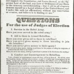Oath of Allegiance, to be administered to every voter, and Questions for the use of Judges of Election in Maryland (Courtesy of Chris Haugh)