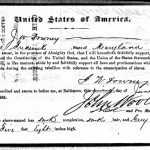 The Oath of Allegiance signed by former Confederate soldier J. W. Downey on June 19, 1865 (ancestry.com)