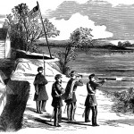 Conrad's Ferry (now known as White's Ferry), MD, overlooking Harrison's Island and the battlefield at Ball's Bluff (Frank Leslie's Illustrated Newspaper, Nov. 16, 1861, from Florida Center for Instructional Technology, http://etc.usf.edu/clipart)