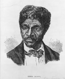 The Dred Scott case decided in 1857 by the Supreme Court, ignited passionate feelings about slavery North and South, and is cited by some as one of the causes of the Civil War.  (Library of Congress)