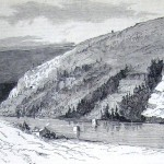 Loudoun Heights in Virginia and the destroyed bridge across the Shenandoah River (L. M. Hamilton, artist; The New-York Illustrated News, October 18, 1862; courtesy of Princeton University Library)
