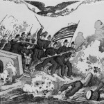 Fighting at Burnside Bridge during the Battle of Antietam (lithograph by Currier & Ives; Library of Congress)