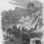 A Union signal station on top of Maryland Heights near Harpers Ferry (A. R. Waud, artist; Harper's Weekly, November 15, 1862; courtesy of Princeton University Library)