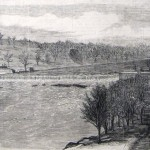 Dam No. 4 on the Potomac, the scene of two small encounters in mid-December 1861 (New-York Illustrated News, January 25, 1862; R.S. Todd, artist; courtesy of Princeton University Library)