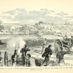On September 20, 1862, Union troops that had crossed over the Potomac River near Shepherdstown were overwhelmed by a Confederate force and pushed back across the river (Paul Fleury Mottelay, and T. Campbell-Copeland, Frank Leslie's The Soldier in Our Civil War Vol. I [New York: S. Bradley Pub. Co, 1893], 408; originally published in Frank Leslie's Illustrated Newspaper, October 25, 1862)